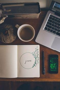 june, coffee, and book resmi