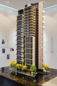 Ideas For Apartment Building Modern Architecture Résidentielle, Amazing Architecture, Contemporary Architecture, Architecture Portfolio, Building Facade, Building Design, Facade Design, House Design, Deco Design
