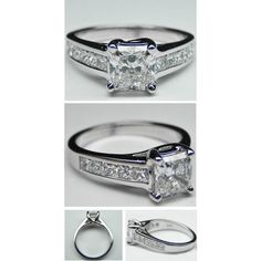 Radiant Diamond Trellis Engagement Ring