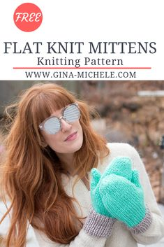 Knit Mittens Knitting Pattern FREE knitting pattern for these Flat Knit Mittens.FREE knitting pattern for these Flat Knit Mittens. Beginner Knitting Patterns, Knitting Blogs, Easy Knitting, Knitting For Beginners, Loom Knitting, Knitting Stitches, Knitting Projects, Knitting Ideas, Charity Knitting