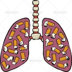 Buy Human Lung Ashtray by ded_Mazay on GraphicRiver. Human lungs with cigarette butts. No transparency or gradients used. JPG and EPS vector files. Creative Poster Design, Creative Posters, Anti Smoking Poster, Smoke Drawing, Anti Tobacco, Drugs Art, Stop Smoke, Lung Cancer, Types Of Food