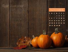 November 2017 Calendar Wallpaper, Happy Thanksgiving