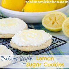 Bakery Style Lemon Sugar Cookies