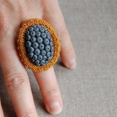 Lichen spores ring ♡ by elinart on Etsy