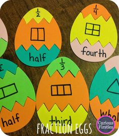 Egg Puzzles: Math Review--these eggs could be used for so many different skills