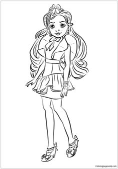 Jane From Descendants Wicked World Coloring Page