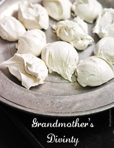 Grandma's Divinity Recipe via Add A Pinch - what Christmas Gift Plate or Holiday Goodies Treat bag is complete without this yummy candy?