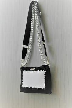 Τσάντα Ασπρόμαυρη Δέρμα Handmade Bags, Shoulder Bag, Fashion, Moda, Handmade Handbags, Fashion Styles, Shoulder Bags, Fashion Illustrations, Homemade Bags