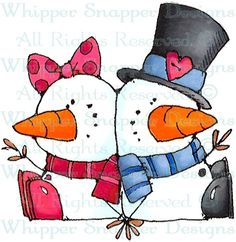 George & Gracie - Snowmen Images - Snowmen - Rubber Stamps - Shop