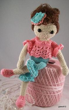 Jessica Nichole, Crochet Amigurumi Doll - buy