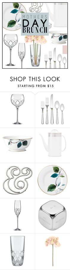 """""""Mother's Day Brunch"""" by misskarolina ❤ liked on Polyvore featuring interior, interiors, interior design, home, home decor, interior decorating, Kate Spade, Sia, polyvoreeditorial and MothersDayBrunch"""