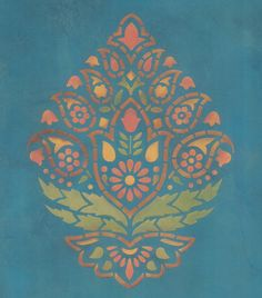 Indian Paisley Stencil - Lovely just the way it is! I really like this one!