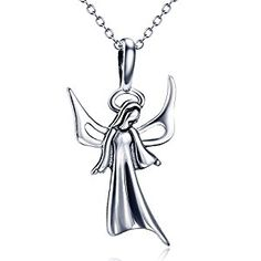 "Material:925 sterling silver,nickel free and lead free,antiallergy,it is not care for your health Accessories:angel pendant and ""o"" chain,pendant size(27*15 mm),chain length:18"",chain width:1.2 mm)"