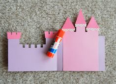 Stampin' with Irina: Tutorial Tuesday Castle Card Diy Crafts For Girls, Diy For Kids, Princess Birthday, Scrapbook Paper Crafts, Kids Cards, I Card, Paper Flowers, Birthday Cards, Card Making