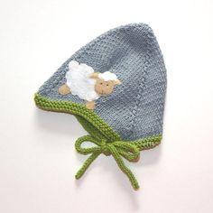 Grau und grün Baby Hut mit weißen Schafe Baby pilot Hut Neugeborene Hut Grösse Neugeborenen gemacht zu bestellen