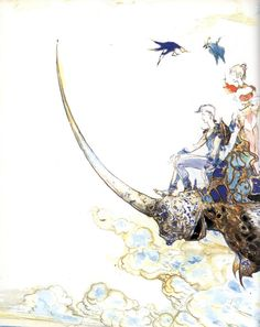 Yoshitaka Amano - Final Fantasy VI Space Knight, Yoshitaka Amano, Vampire Hunter D, Final Fantasy Vi, Video Game Art, Video Games, Scenic Design, Japanese Artists, Moose Art