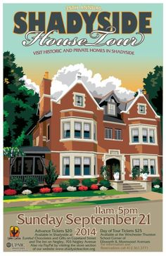 Shadyside House Tour poster