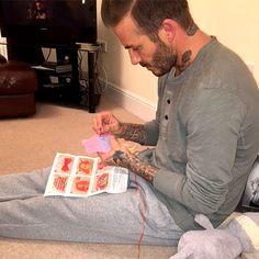 David Beckham Sews Doll Dresses for Daughter Harper in Sweet InstagramSnap http://celebritybabies.people.com/2016/03/26/david-beckham-harper-doll-dresses-instagram/