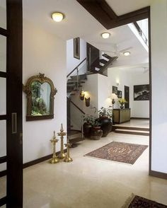 Interior Design by Kumar Moorthy & Associates, Delhi. Browse the largest collection of interior design photos designed by the finest interior designers in India. Indian Interior Design, Indian Home Design, Decor Interior Design, Asian Interior, Ethnic Home Decor, Indian Home Decor, Home Design Living Room, Console, Hall Design