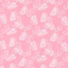 Cotton rose w small white leaves - Feminine fabric with white leaves!