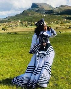People from all over the world are fast embracing the African TRENDY XHOSA ATTIRE fabrics andthe designers truly deserve some accolades South African Traditional Dresses, Traditional Dresses Designs, Xhosa Attire, African Attire, Traditional Wedding Attire, Traditional Fashion, African Dresses For Women, African Fashion Dresses, Africa Fashion