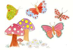 painting of gardens with butterflies - Google Search