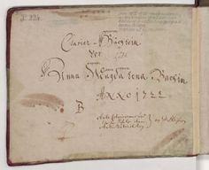 """""""Clavier-Büchlein vor Anna Magdalena Bachin Anno 1722."""""""
