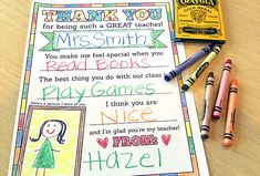 Free Printable For Teacher Appreciation Week! – Frugal Novice