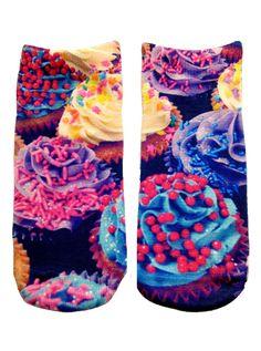Cupcake Ankle Socks #InkedShop #cupcake #anklesocks #socks #cute