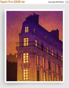 30 % OFF SALE: Paris  Boulevard de Magenta  Abbildung von tubidu