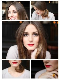 Love the bold, red lips & hair! Can't seem to get enough of her. We just need to be best friends.