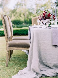 Glamorous + Romantic Wedding Inspiration at The Villa Sevillano Romantic Wedding Inspiration, Reception Party, Wedding Wishes, Wedding Dreams, Outdoor Furniture Sets, Outdoor Decor, Wedding Themes, Tablescapes, Table Settings