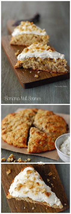 Banana Nut Scones are low in sugar and perfect for breakfast!