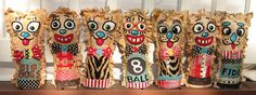 Hand Embroidered Carnival Knockdown dolls and Circus Punks