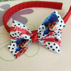 Tiara Vermelha Laço Miraculous Ladybug