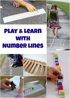 A round-up of fun idea to help your child play and learn with number lines.