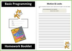 Scratch Homework Booklet from Computer & ICT Lesson Plans on TeachersNotebook.com -  (8 pages)  - A lovely Homework Booklet which allows students to reflect on their learning about using the Scratch software. Very easy to use.
