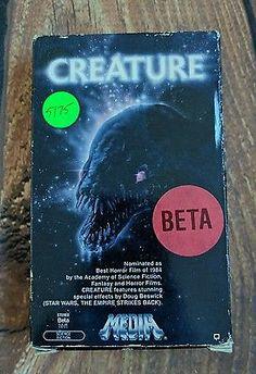 RARE Vintage Creature Beta Tape 1985 Horror Sci Fi Alien Cult Classic