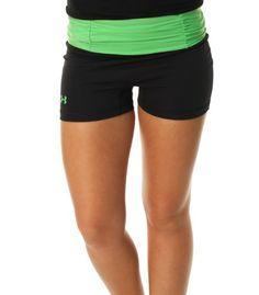 Under Armour Women's UA Shatter Compression Shorts-Black/Green « Impulse Clothes