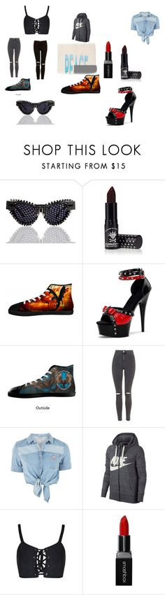 """Untitled #284"" by toxicupcakes on Polyvore featuring MATERIAL MEMORIE, Manic Panic NYC, Topshop, GUESS, NIKE, Smashbox and Bobbi Brown Cosmetics"
