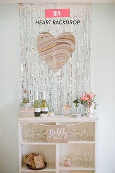 DIY Heart Backdrop  Read more - http://www.stylemepretty.com/washington-dc-weddings/2014/02/14/diy-heart-backdrop/