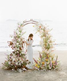 Styled Social San Luis Obispo: Smoke & Amber Wedding Inspiration at Higuera Ranch Wedding Altars, Wedding Ceremony Flowers, Wedding Stage, Wedding Ceremony Decorations, Ceremony Backdrop, Floral Wedding, Rustic Wedding, Church Wedding, Floral Backdrop