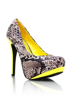 two-tone snakeskin heels (also n pink)