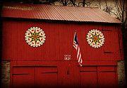 Pennsylvania Dutch Hex Signs Art - 1820 Hex Barn by Brenda Conrad