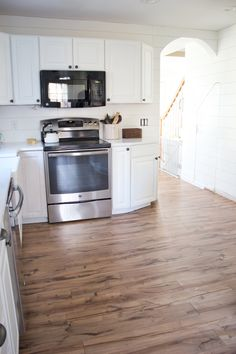 Pergo flooring before and after photos, Providence Hickory