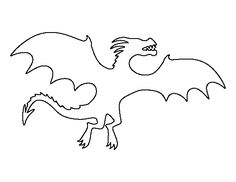 Free printable patterns to use for coloring, crafts, stencils, and more. Dragon Birthday, Dragon Party, Stencil Templates, Stencils, Dragon Medieval, Harry Potter Dragon, Roi Arthur, Animal Templates, Rock Painting Patterns