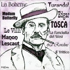 Giacomo Puccini ,1858 - 1924, is the Italian composer of some of the most popular and frequently performed operas.  The background lists some of his best known works.