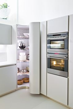 fitted kitchen without handles ola 20 ola line by snaidero