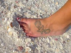 seashell tattoo!  I've never wanted a tattoo until now!   Almost exactly what I want