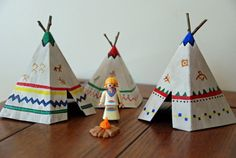 Construction Paper Tepees